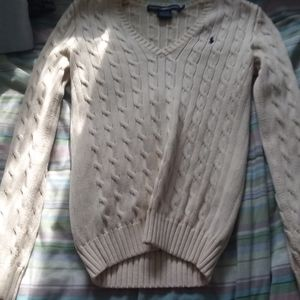 Ralph Lauren Sport (new) Cream Cable-Knit Sweater